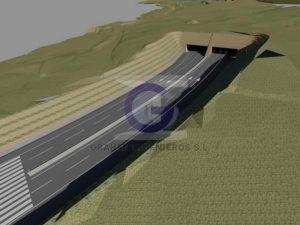 tunel acceso huca